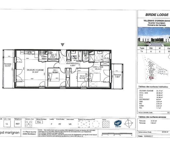 Renting Apartment 4 rooms 91m² Villenave-d'Ornon (33140) - photo