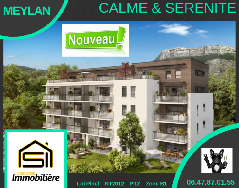 Vente Appartement 3 pièces 61m² Meylan (38240) - photo
