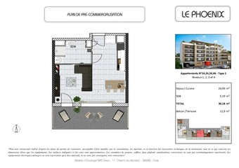 Vente Appartement 1 pièce 29m² Bourgoin-Jallieu (38300) - Photo 1