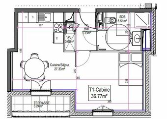 Vente Appartement 2 pièces 37m² Le Touquet-Paris-Plage (62520) - photo