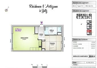 Location Appartement 2 pièces 48m² Yutz (57970) - Photo 1