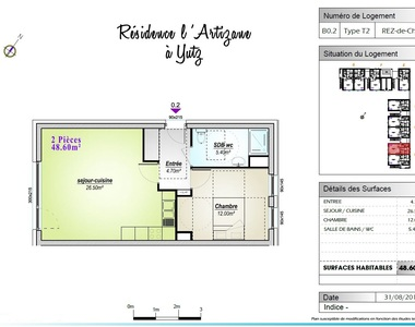 Location Appartement 2 pièces 48m² Yutz (57970) - photo