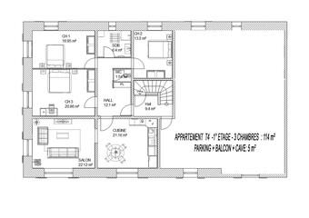 Vente Appartement 4 pièces 114m² La Biolle (73410) - Photo 1