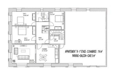 Vente Appartement 4 pièces 114m² La Biolle (73410) - photo