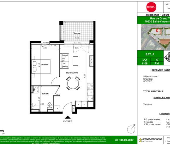 Renting Apartment 2 rooms 39m² Saint-Vincent-de-Tyrosse (40230) - photo