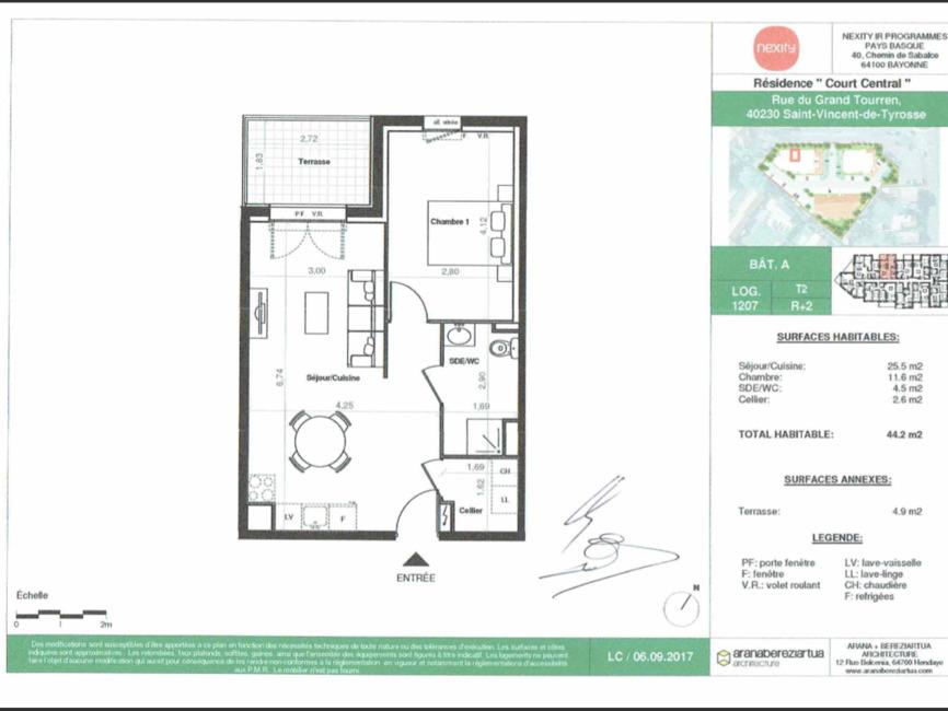 Location Appartement 2 pièces 44m² Saint-Vincent-de-Tyrosse (40230) - photo