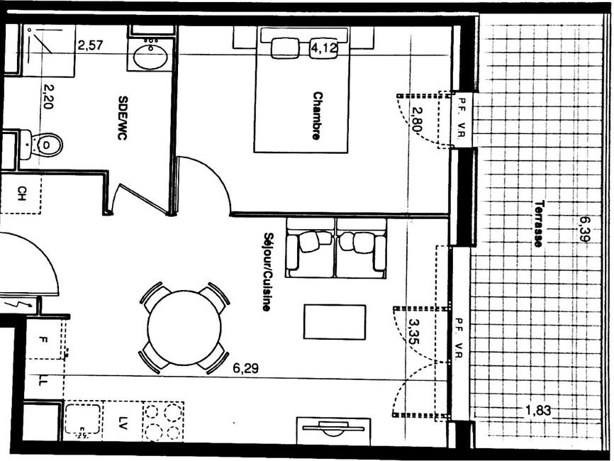 Location Appartement 2 pièces 39m² Saint-Vincent-de-Tyrosse (40230) - photo