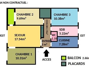 Vente Appartement 4 pièces 71m² Pierre-Bénite (69310) - photo