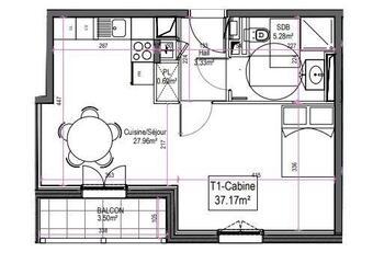 Vente Appartement 1 pièce 37m² Le Touquet-Paris-Plage (62520) - photo