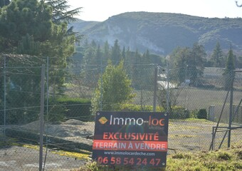 Vente Terrain 1 123m² Vallon-Pont-d'Arc (07150) - photo