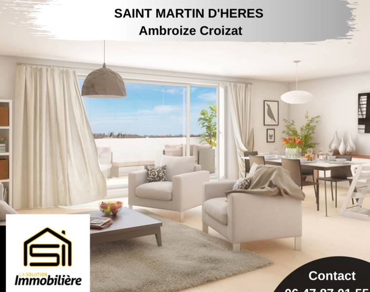 Vente Appartement 5 pièces 95m² Saint-Martin-d'Hères (38400) - photo