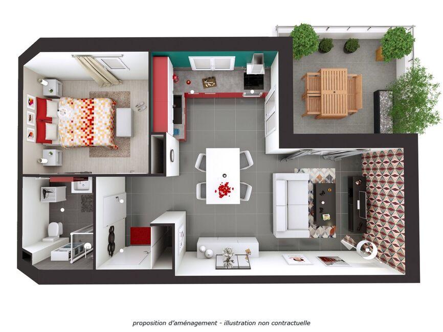Vente Appartement 2 pièces 42m² Grésy-sur-Isère (73460) - photo
