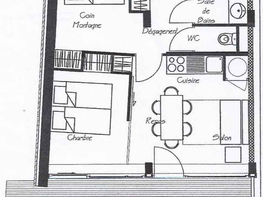 Vente Appartement 2 pièces 44m² CHAMROUSSE - photo