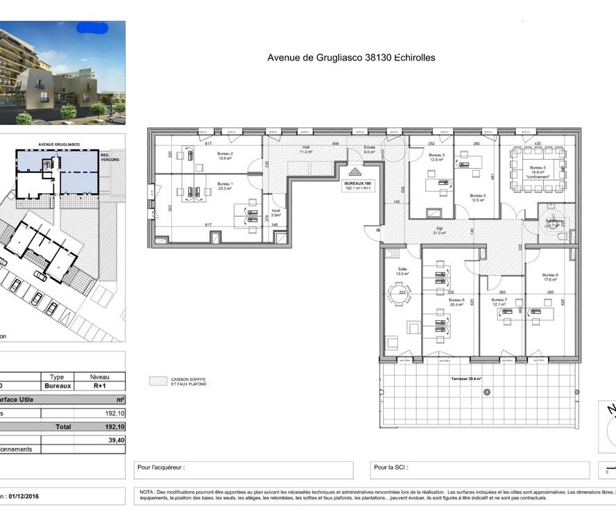 Sale Office 192m² Échirolles (38130) - photo