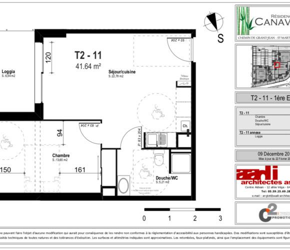Location Appartement 2 pièces 42m² Saint-Martin-de-Seignanx (40390) - photo