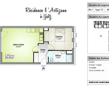 Location Appartement 2 pièces 49m² Yutz (57970) - photo