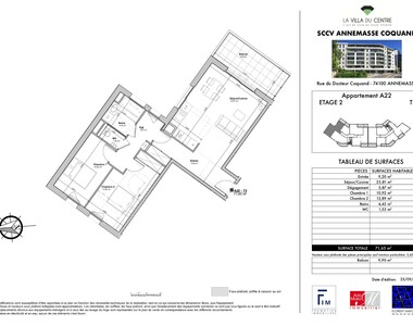 Sale Apartment 3 rooms 72m² Annemasse (74100) - photo