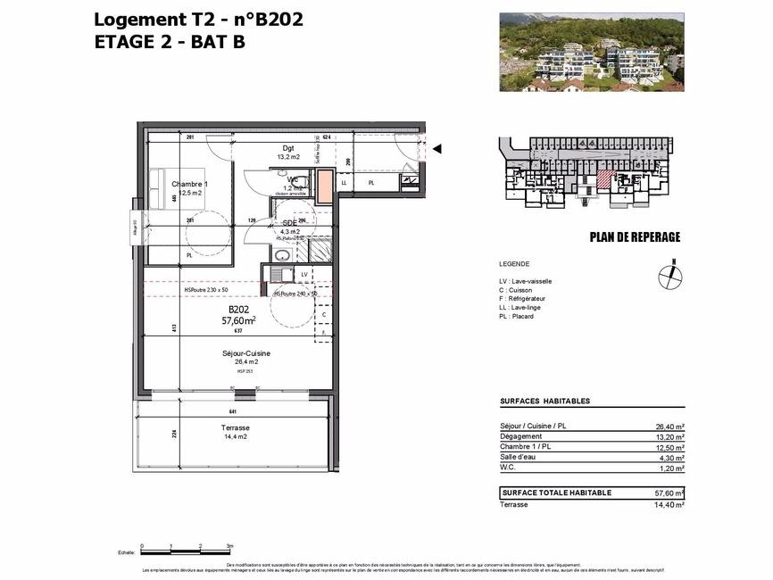 Vente Appartement 2 pièces 58m² Albertville (73200) - photo