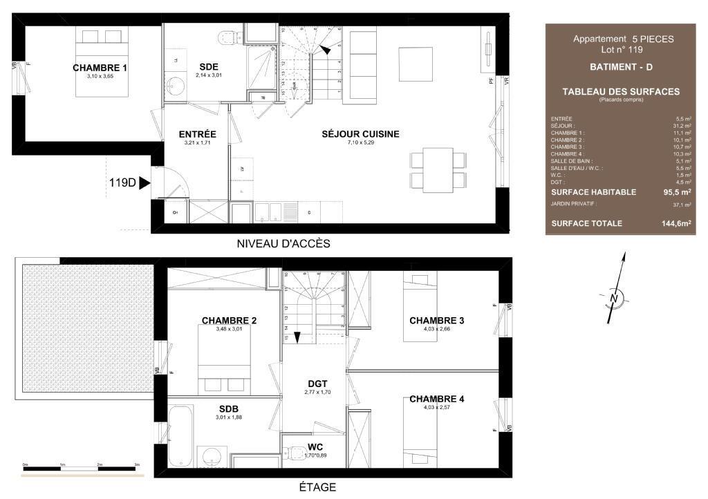 Plan Maison  Pices Plan Maison Patio Interieur Maison Avec Patio