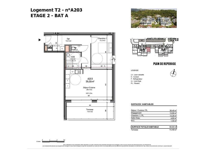 Vente Appartement 2 pièces 59m² Albertville (73200) - photo