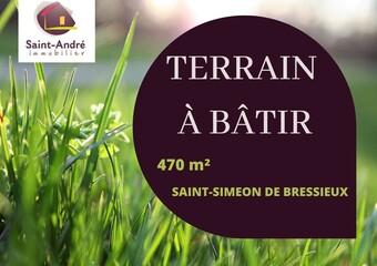Vente Terrain 470m² Saint-Siméon-de-Bressieux (38870) - Photo 1
