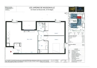Location Appartement 3 pièces 62m² Bègles (33130) - Photo 1
