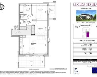 Sale Apartment 3 rooms 63m² Vétraz-Monthoux (74100) - photo