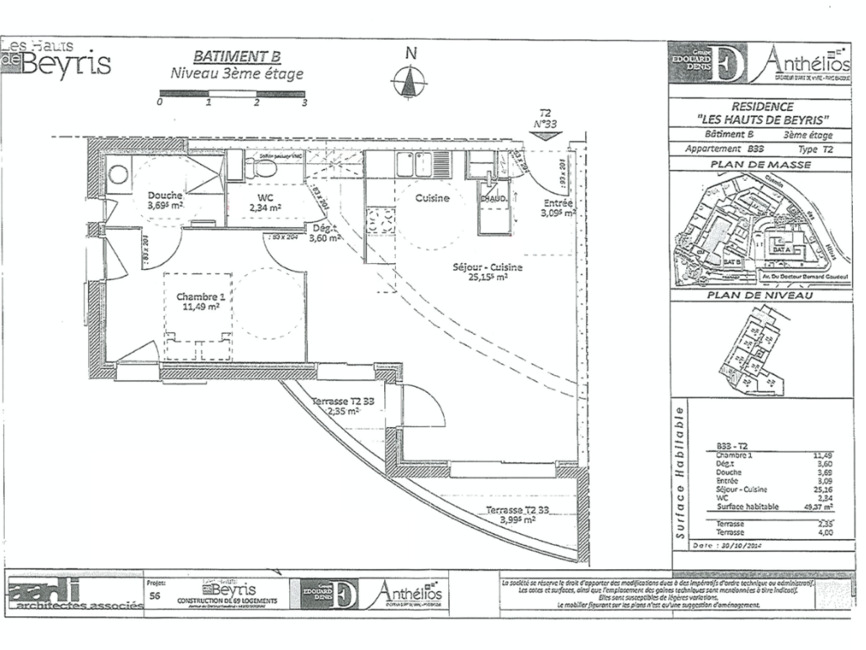 Location Appartement 2 pièces 49m² Bayonne (64100) - photo