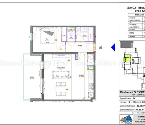 Vente Appartement 2 pièces 53m² Albertville (73200) - photo