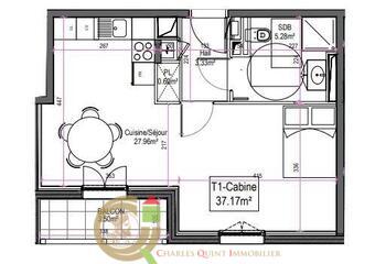 Sale Apartment 1 room 37m² Le Touquet-Paris-Plage (62520) - photo
