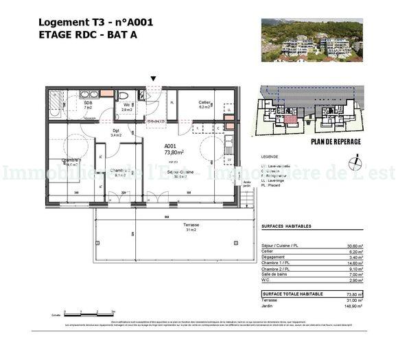 Vente Appartement 3 pièces 74m² Albertville (73200) - photo