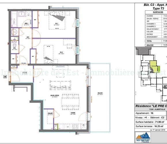Vente Appartement 3 pièces 72m² Albertville (73200) - photo